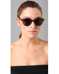 Elizabeth and James | Brown Madison Sunglasses | Lyst
