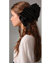 Eugenia Kim | Black Solid Kelly Ruffled Barrette | Lyst