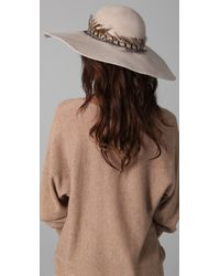 Eugenia Kim | Natural Honey Wide Brim Hat with Feather Band | Lyst