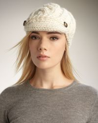 Eugenia Kim | White Scarlett Cable-knit Cap | Lyst