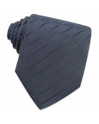 FORZIERI - Dark Blue Classic Extra-long Woven Silk Tie for Men - Lyst
