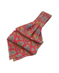 FORZIERI - Red Paisley Print Twill Silk Ascot for Men - Lyst