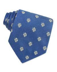 FORZIERI - Black Gold Line - Florentine Fleurs-de-lis Woven Silk Tie for Men - Lyst
