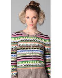 Juicy Couture - Natural Faux Fur Earmuff Speaker Headphones - Lyst