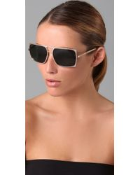 Karen Walker | Metallic Dylan Sunglasses | Lyst