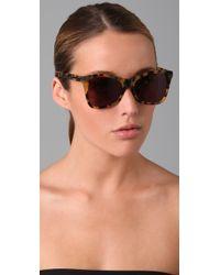Karen Walker - Brown Perfect Day Sunglasses - Lyst