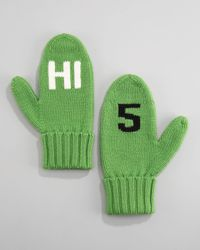 kate spade new york | Green Hi 5 Mittens | Lyst