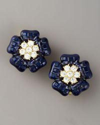 kate spade new york - Blue Carroll Gardens Clip Earrings - Lyst