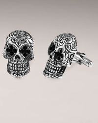 King Baby Studio - Metallic Day Of The Dead Cufflinks for Men - Lyst