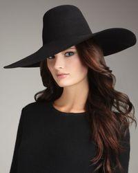 Lanvin | Black Wide-brim Felt Hat | Lyst