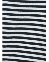 Mango | Black Stripe Scarf | Lyst