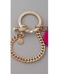 Marc By Marc Jacobs - Red Stacked Heart Keychain - Lyst
