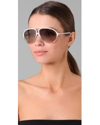 Marc By Marc Jacobs - White Combo Aviator Sunglasses - Lyst