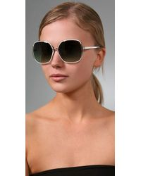 Marc By Marc Jacobs | White Slim Line Sunglasses | Lyst