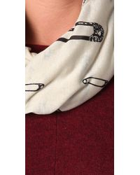 McQ - Natural Safety Pin Scarf - Lyst