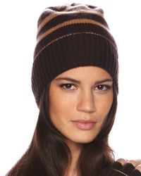 MICHAEL Michael Kors | Brown Oversized Skull Hat | Lyst