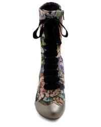 ModCloth - Multicolor Whats On Tapestry Boot - Lyst