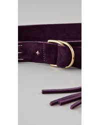 Rag & Bone | Purple Wittig Belt - Aubergine | Lyst
