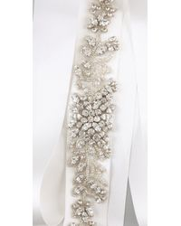 Reem Acra | White Wide Crystal Headband / Belt | Lyst