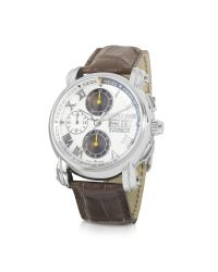 Roberto Cavalli - Brown Anniversary - Automatic Stainless Steel Chrono Watch for Men - Lyst