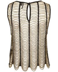 TOPSHOP | Natural Knitted Gold Beaded Shell | Lyst