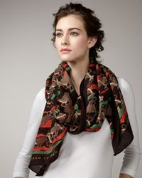 Marc By Marc Jacobs   Brown Running Impala-print Stole   Lyst