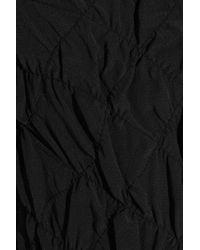 M Missoni - Black One-shoulder Cotton-crepe Dress - Lyst