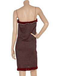 M Missoni - Red Metallic Patterned Knit Dress - Lyst