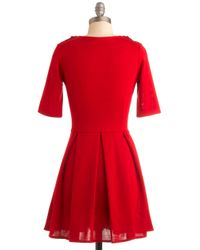 ModCloth | Ladylike in Red Dress | Lyst