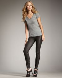 True Religion | Casey Leather-look Leggings, Black | Lyst