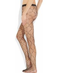 Wolford | Black Gala Patterned Tights | Lyst