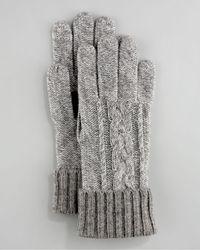Grandoe - Touch-screen Cashmere Glove, Gray - Lyst