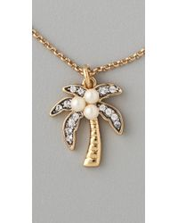Juicy Couture - Metallic Palm Tree Wish Necklace - Lyst