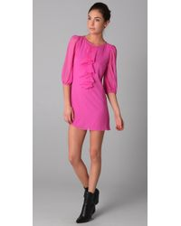 Tibi - Pink Ruffle Dress - Lyst