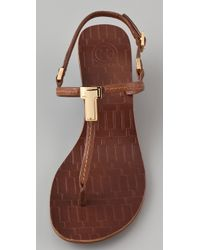 Tory Burch | Brown Pauline Wedge Sandal | Lyst