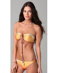 We Are Handsome | Metallic Bandeau Bikini Set | Lyst