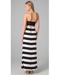Alice + Olivia | Black Handra Strapless Maxi Dress | Lyst