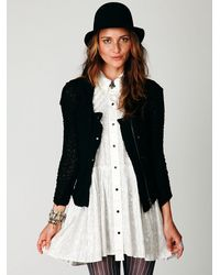 Free People - Black Lace Zip Jacket - Lyst