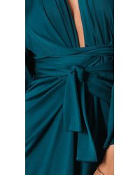 Issa | Blue Long Sleeve Print Kimono Dress | Lyst