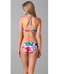 Marc By Marc Jacobs - Blue Havana Floral Bandeau Bikini Top - Lyst