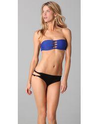Mikoh Swimwear | Blue Monaco Bikini Top | Lyst