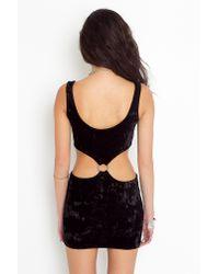 Nasty Gal - Vivian Velvet Dress - Black - Lyst