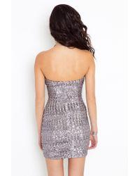 Nasty Gal - Metallic Icy Sequin Dress - Lyst