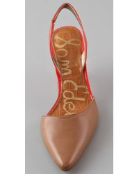 Sam Edelman | Natural Orly Two Tone Pumps | Lyst
