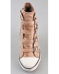 Ash - Pink Thelma Wedge Sneakers - Lyst