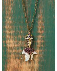 Free People | Purple Koi Pendant | Lyst