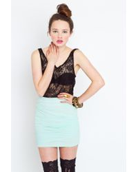 Nasty Gal - Green Seafoam Mesh Skirt - Lyst