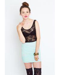 Nasty Gal | Green Seafoam Mesh Skirt | Lyst