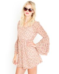 Nasty Gal | Pink Anabelle Babydoll Dress | Lyst
