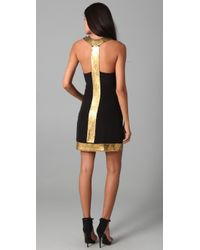 Sheri Bodell | Black Venus Metal Halter Dress | Lyst